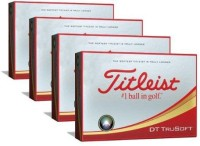 Titleist DT True Soft Golf Ball(Pack of 4, White)