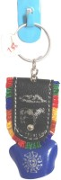 StopShop Swiss Cow Bell Small Size Keyrings Handheld Cowbell(Brass)