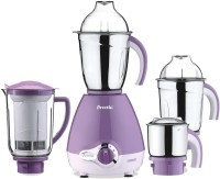 Preethi Pro 600 600 Mixer Grinder (4 Jars, White, Purple)
