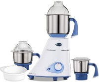 Preethi Blue Leaf Gold 450 Watt Mixer Grinder White Blue 450 Mixer Grinder (3 Jars, White, Blue)