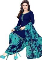 Saara Crepe Solid, Floral Print, Printed Salwar Suit Material(Unstitched)