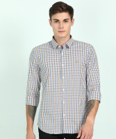 Peter England University Men Checkered Casual Multicolor Shirt