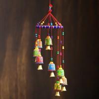 eCraftIndia Handcrafted Wall/Door/Window Hanging Decorative Showpiece  -  49 cm(Brass, Paper Mache, Multicolor)
