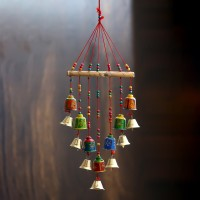 eCraftIndia Handcrafted Wall/Door/Window Hanging Decorative Showpiece  -  54 cm(Brass, Paper Mache, Multicolor)
