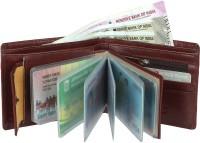 LIUTAS Men Casual Brown Artificial Leather Wallet(9 Card Slots)