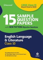 15 Sample Question Papers English Language & Literature Class 10th CBSE 2020(English, Paperback, Arihant Experts)