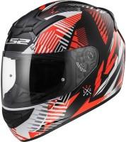 Riders LS2 FF352 Rookie White Orange Motorbike Helmet(Whute, Orange)