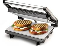 Nova 2 Slice Ceramic Sandwich Grill Maker Grill(Black & Steel)