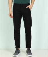 Flying Machine Slim Fit Men Black Trousers