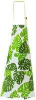 Fashion Adjustable Cotton Kitchen Apron for Cooking Restaurant Pinafore(White, Green)