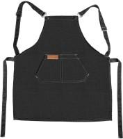 Fashion Work Apron Chef Cooking Kitchen Restaurant Coffee Shop Denim Apron(Black)