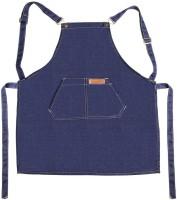 Fashion Work Apron Chef Cooking Kitchen Restaurant Coffee Shop Denim Apron(Blue)