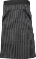 Universal Unisex Stripe Bib Apron with Pockets Chef Cook Tool Coffee(Black)