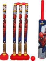 Marvel Spider-Man Senior Bat, 4 Stumps and Ball Cricket Kit