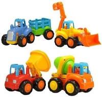 Khilona House Unbreakable Construction Automobiles Toy Set, Multicolour(Multicolor, Pack of: 4)