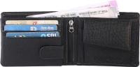 DEZiRE CRAfTS Men Casual, Formal Black Artificial Leather Wallet(9 Card Slots)