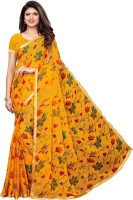 Saara Printed Fashion Chiffon Saree(Yellow)