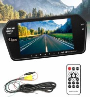 Cave Cave Rearview Mirror 7 Inches MP 5 Bluetooth with Mirror Link,car t.v,car Screen LCD Panel Set (Cave-333) Black LCD(24 cm)
