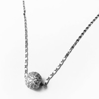 Fast India Shop CASUAL NECKLACE FOR WOMEN Sterling Silver Diamond Brass Pendant