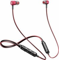 Red Lemon Dhoom D110 Sports Neckband Bluetooth Headset(Red, In the Ear)
