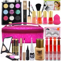 Adbeni Beauty and The Best Brushes With Makeup and Skin Care Home Salon Kit Pack GC-914