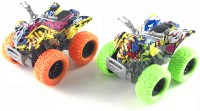 Miss & Chief 2 pack Friction Powered Monster Rock Cars with rubber tyres(Multicolor)