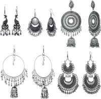 Alysa Silver Plated Silver, Alloy Earring Set