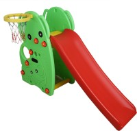 Miss & Chief 2 in 1 Colorful Garden Slide with Basketball Ring and Stairs(Multicolor)
