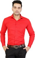 BEST BRAND Men Solid Casual Red Shirt