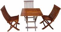 Divine Arts Sheesham Wood Solid Wood 4 Seater Dining Set(Finish Color - Dark Brown)