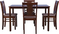 HomeTown Artois Solid Wood 4 Seater Dining Set(Finish Color - Antique Cherry)