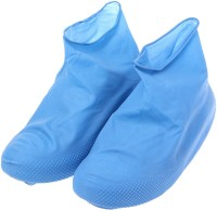 Desi Rang rain shoe cover protector for bike travel size M Polyresin Blue Boots Shoe Cover, Flat Shoe Cover, Toes Shoe Cover(Medium Pack of 1)