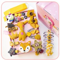 Cologo 1PC Children's Hairpin Female 2019 New Korean Cute Baby Does Not Hurt Hairpin Princess Hair Accessories Set