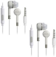 TruOm In-ear Combo Headphone for Android Mobiles TViCo-1 Wired Headset with Mic(White, In the Ear)