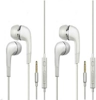 TruOm Combo In-ear Headphone for Android Mobiles TMiCo-2 Wired Headset with Mic(White, In the Ear)