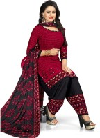 Saara Poly Crepe Printed Salwar Suit Material(Unstitched)