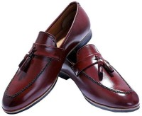 Dimara Loafer Moccasins synthetic leather Shoes Loafers For Men(Maroon)