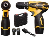 TWONE ALTOCRAFTE Drill Plastic Cordless Drill Screw Driver 10mm Keyless Chuck 12V with Batteries (Yellow) Drill Screw Driver 10mm Keyless Chuck 12V with Batteries (Yellow) Pistol Grip Drill(13 mm Chuck Size)