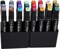 Livzing Dual Tip Marker Set Superfine Nib Sketch Pens(Set of 24, Multicolor)