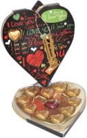Moshiks 11 HEART BLACK BOX MILK CHOCOLATE Bars(0.11 kg)