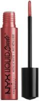 NYX PROFESSIONAL MAKEUP Professional Makeup Liquid Suede Metallic Matte Cream Lipstic(Maroon, 4 ml)