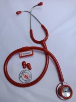 Dr. Head Stainless Steel Cardiology Stethoscope (Red) Cardiology Stethoscope(Red)