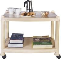 Patelraj Coffee Table Plastic Coffee Table(Finish Color - Beige)