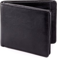 Billfold Men Casual, Formal, Travel, Evening/Party Black Genuine Leather Wallet(13 Card Slots)