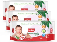 LuvLap Baby Moisturising Wipes with Aloe Vera, 72 Wipes/pack(3 Wipes)