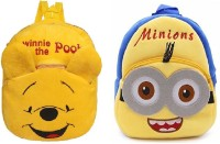 Lychee Bags Boys & Girls Yellow Backpack(Pack Of 2)