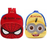 Lychee Bags Boys & Girls Yellow, Red Backpack(Pack Of 2)