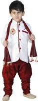 SBN RED SHERWANI WITH DUPPATA Boys Festive & Party Kurta and Pyjama Set(Maroon Pack of 1)