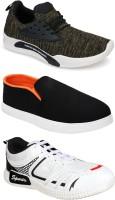 Earton Men Multicolor Sport Shoes(Pack Of 3)