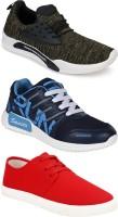 Swiggy Men Multicolor Sport Shoes(Pack Of 3)